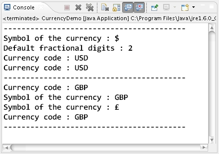 Javautilrrency Class Methods Usage In Java Learn Java By