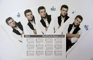 Calendario NickCarterSpain 2012
