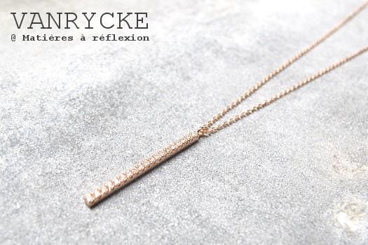Nouvelle collection Vanrycke Collier Medellin diamants