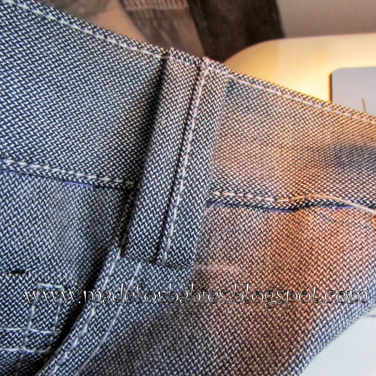 Как сшить шлевки на джинсы 50