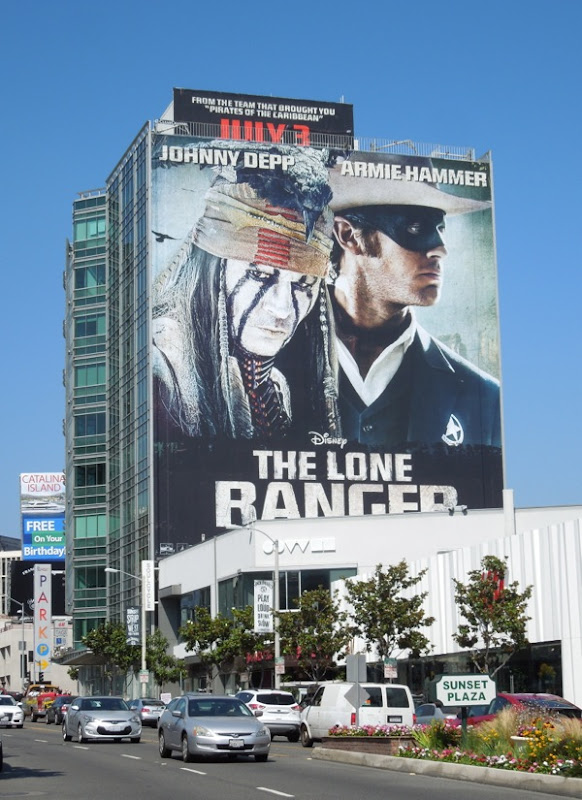 Lone Ranger movie billboard Sunset Strip