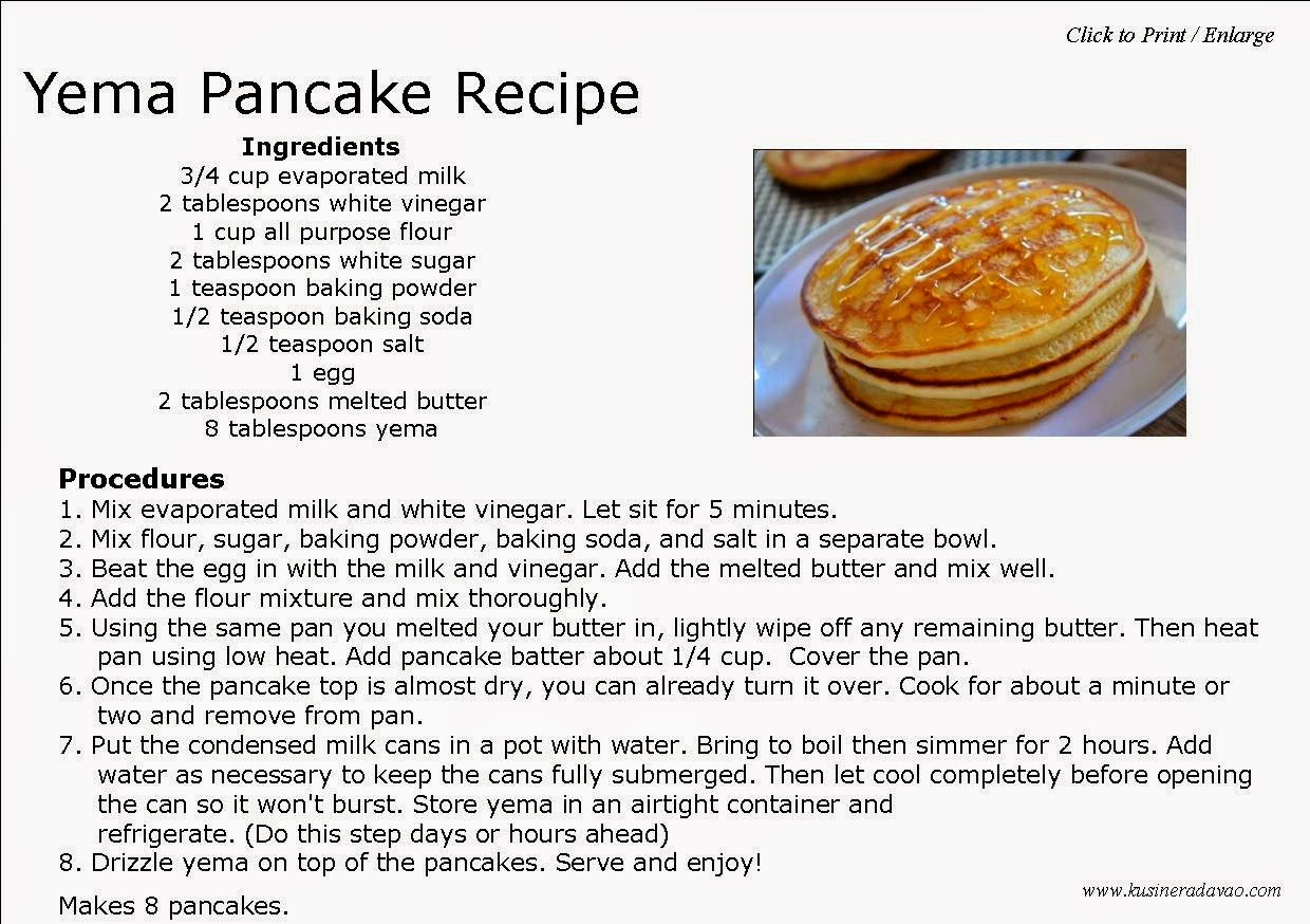 Cake Recipes With Pictures And Procedure : Yema Pancakes KUSINERA DAVAO