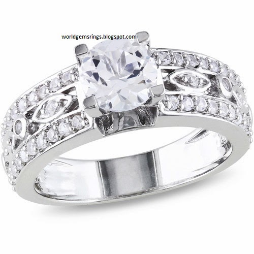 engagement ring white sapphire engagement
