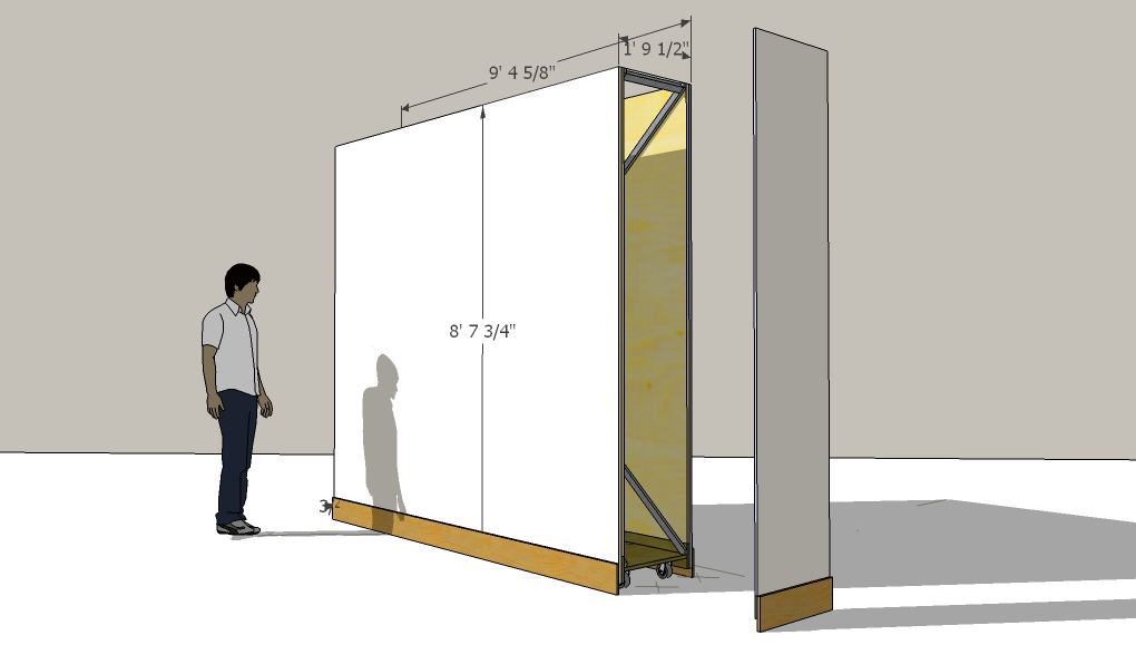 artisan design partition wall for an art gallery