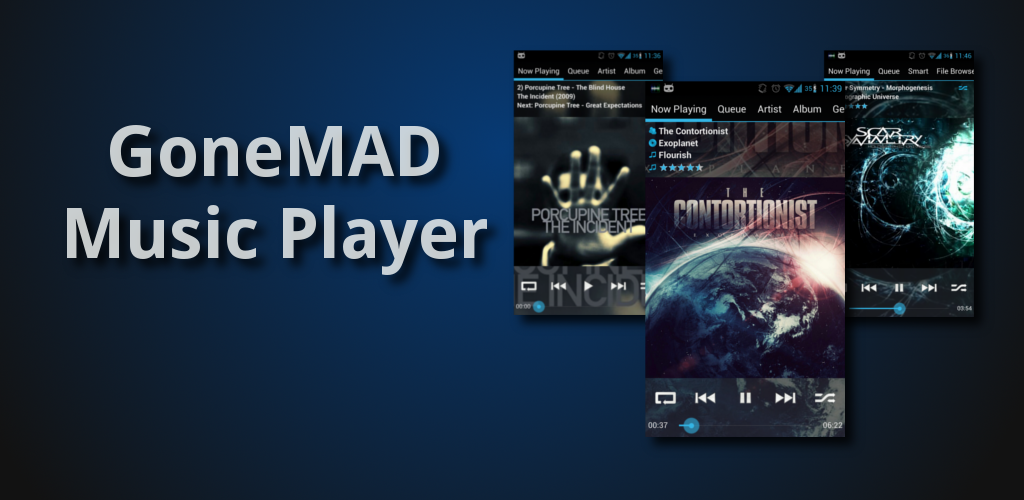 GoneMAD Music Player: New Feature Banner