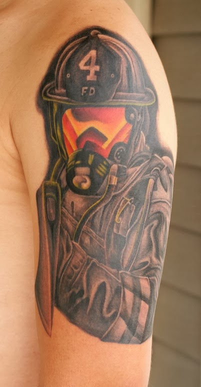 Firefighter Uniform Tattoo