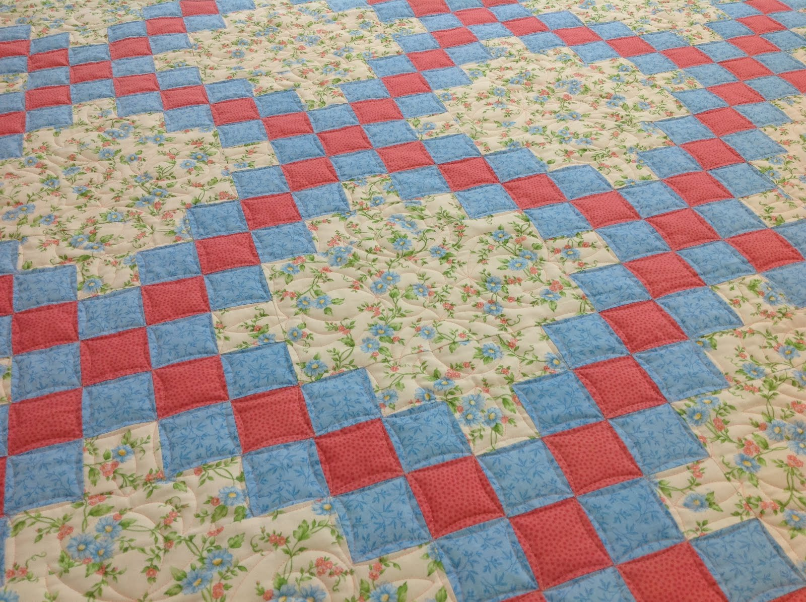 Irish Chain Quilt Custom Quilting