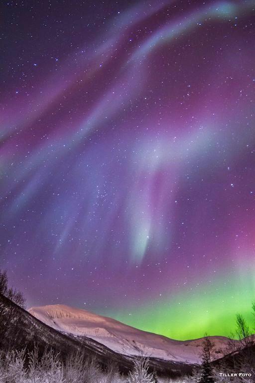 Aurora boreal  Tromsdalen, Noruega, 22 de Diciembre 2014