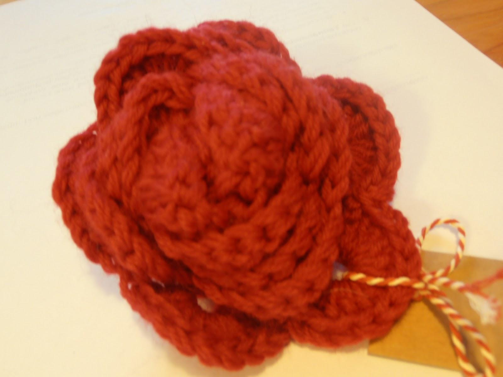 Sweet Home Rosa & Lia: Rose häkeln für Kissen; als Anstecker ...