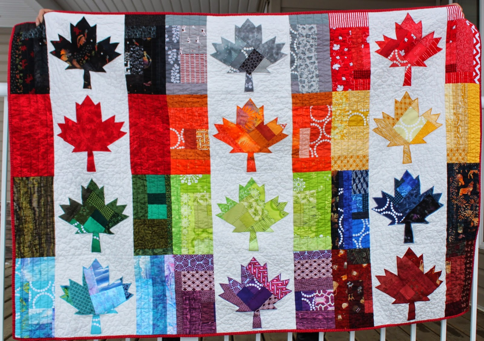Daydreams of Quilts: My Blogger's Quilt Festival Quilt - Quilt of ... : canada quilt - Adamdwight.com