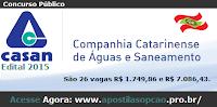 apostila concurso CASAN (SC) 2015, comum a todos os cargos.
