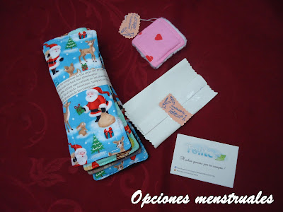 paquete compresas tela