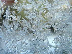 Frost crystals on window glass-http://colormagicphotography.com