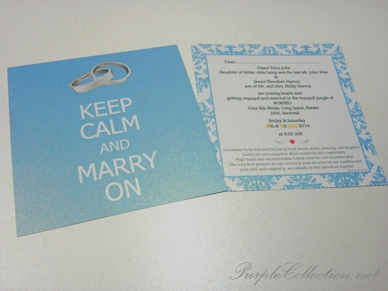 print, online sale, sell, purchase, buy, wholesale, singapore, keep calm and marry on, flat card, 2 sided print, malaysia, kuala lumpur, wedding ring, light blue, damask, miri, sarawak, online, portfolio, james and diana, borneo, order, unique, modern, special, handmade, hand crafted, idea, design, sabah, puchong, kepong, wangsa maju, setapak, sri rampai