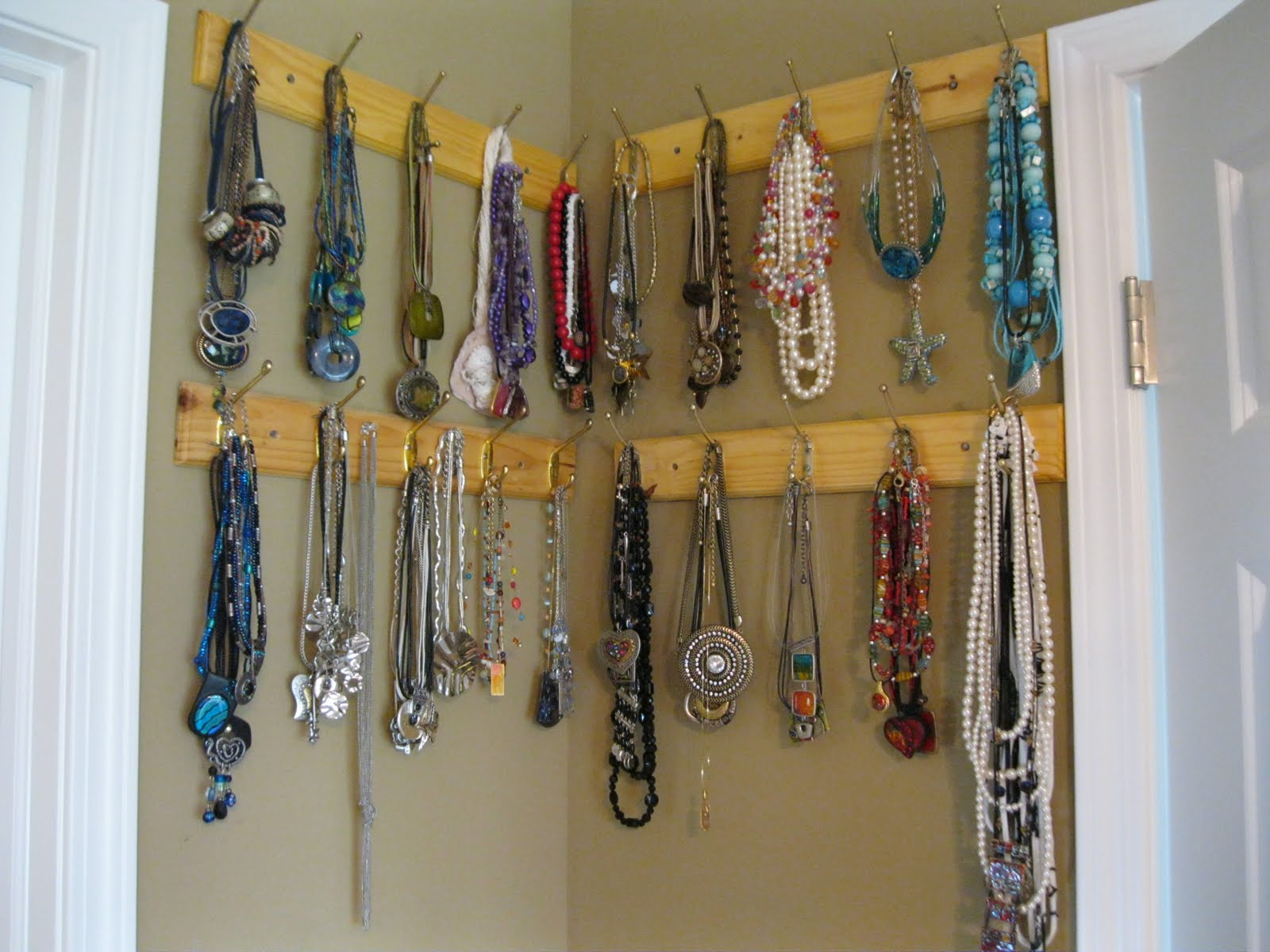 Amazon.com: Wall Mount Long Necklace Rack.