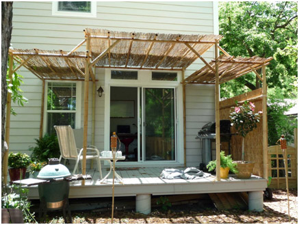 Wonderful Bamboo Shades Patio