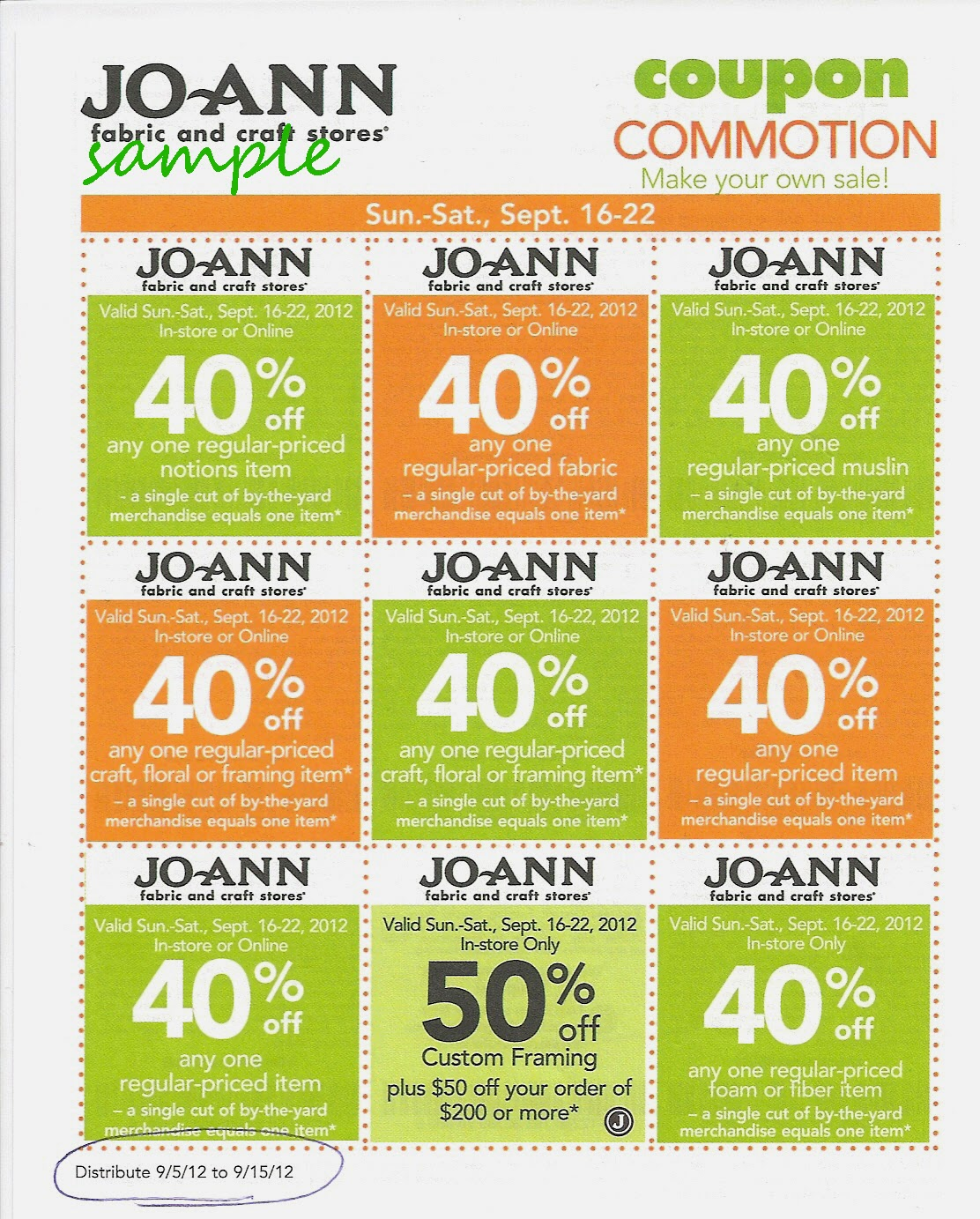 Joann discount coupon