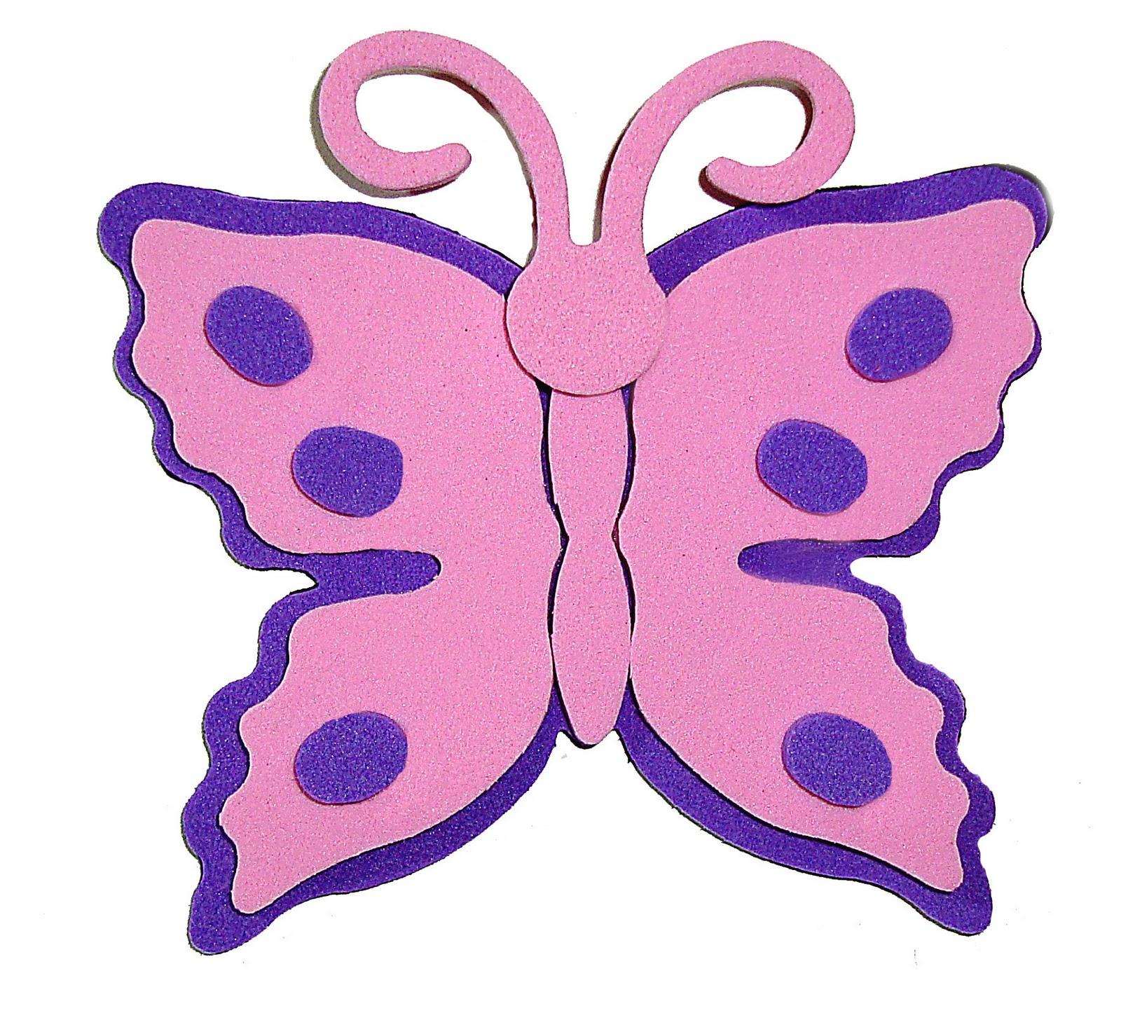 imas para geladeira formato borboletas em e v a
