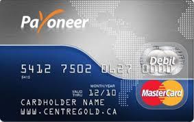 PayOneer Debit Card dari MasterCard.