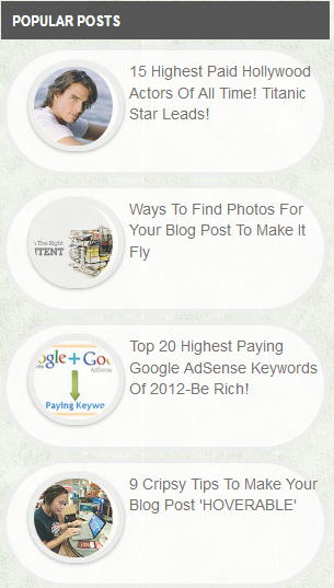 Stylizing Blogger Popular Post Widget