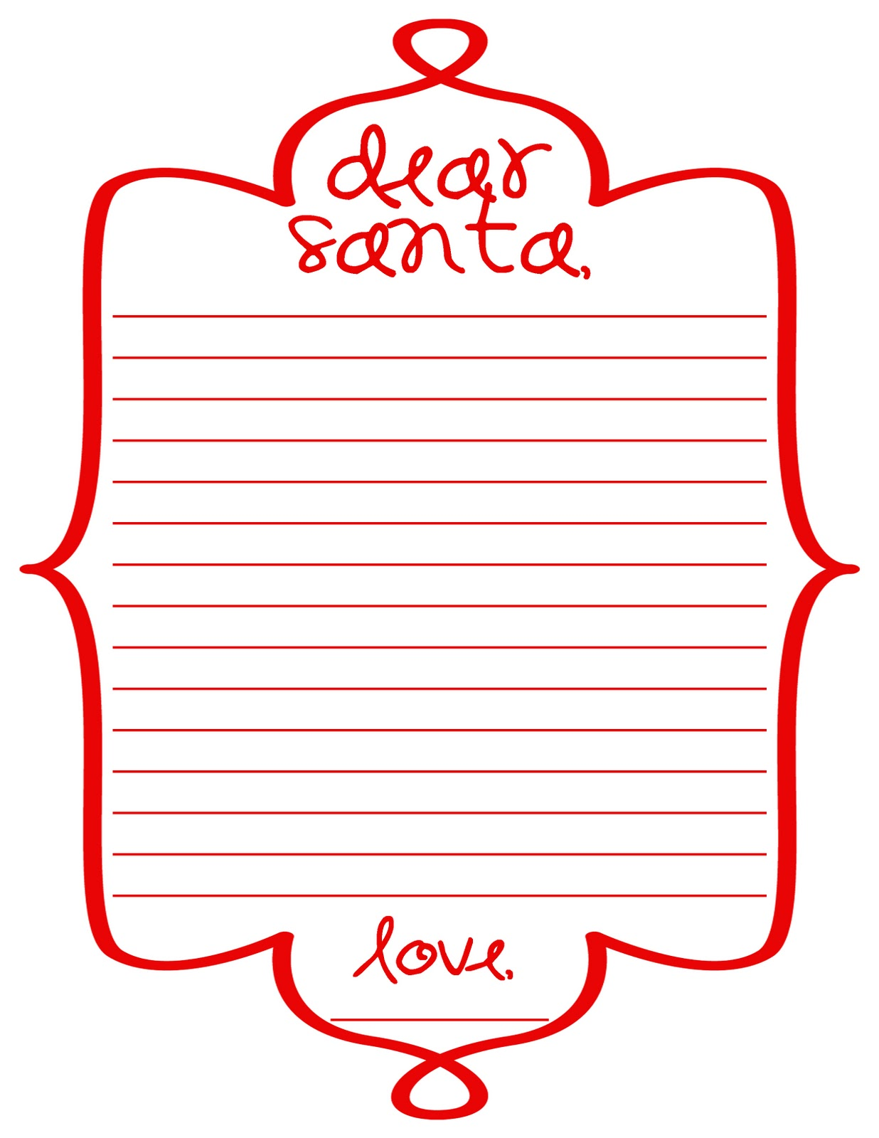 writing letters to santa with the help of this dear santa letterform ...