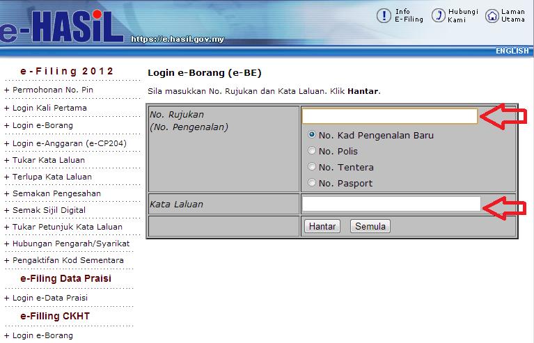 Panduan Cara Isi Borang E Filling Cukai Pendapatan Online