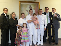 Family Baptism in Fort Lewis, Washington