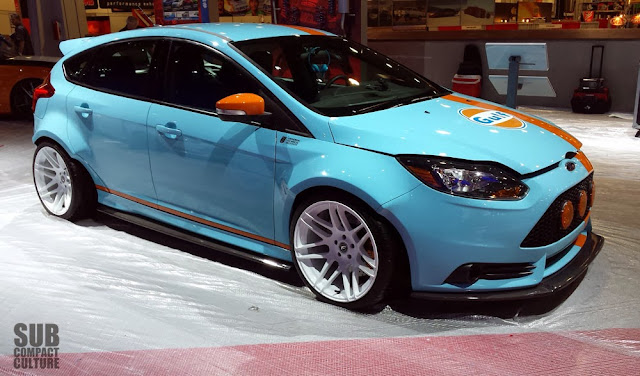 Ford Focus ST in Gulf Livery