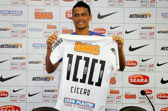 Cícero no Santos FC