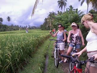 Cycling in Ubud