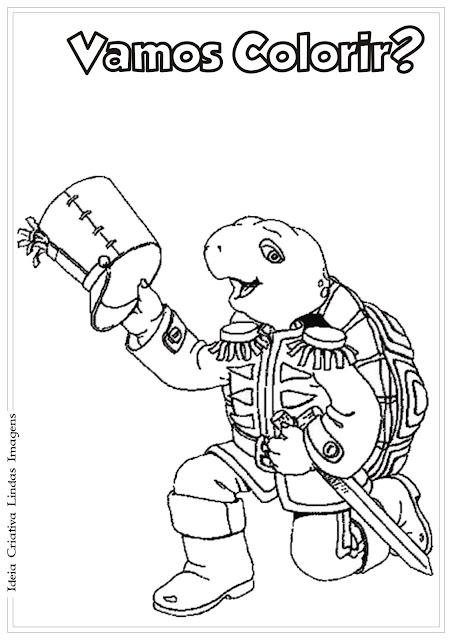 Desenho Dia do Soldado para colorir