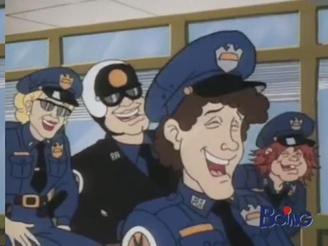 Cartoni anni scuola di polizia