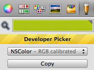 Developer color picker app for Mac platform