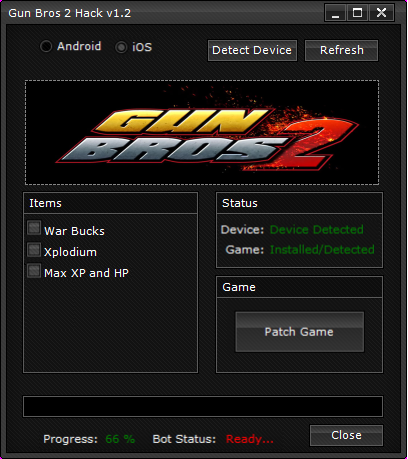 Guns Bros 2 Game Hack v1.2
