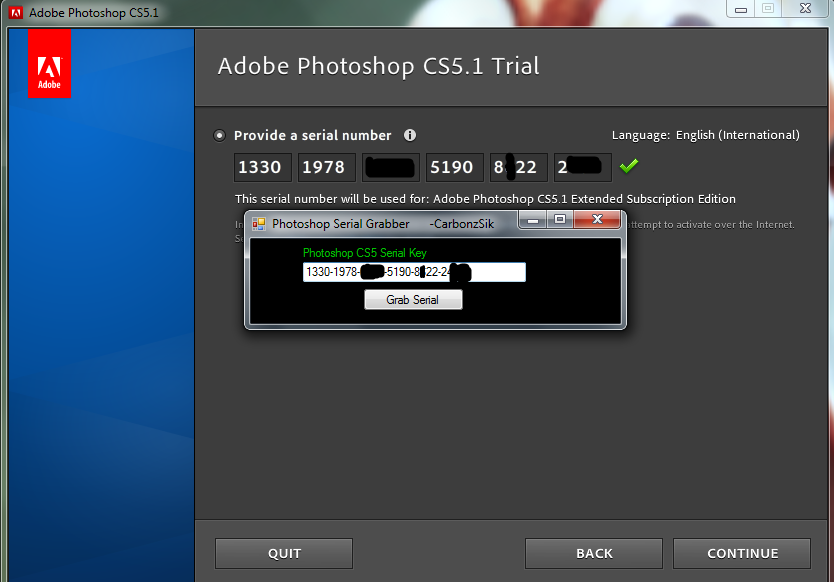 adobe photoshop cs5 serial key  kickass