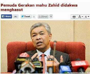 Setelah Dibelasah Parti Gerakan Zahid Hamidi Pusing Tuduh DAP Pula