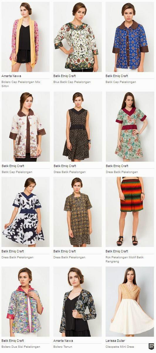 Koleksi Model Baju Batik Pekalongan Terbaru