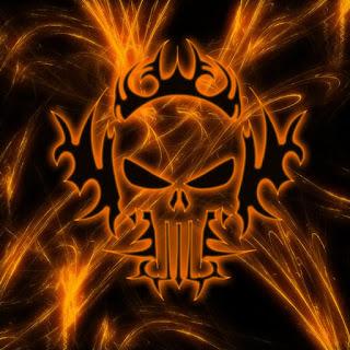 skulls on fire  skulls on fire