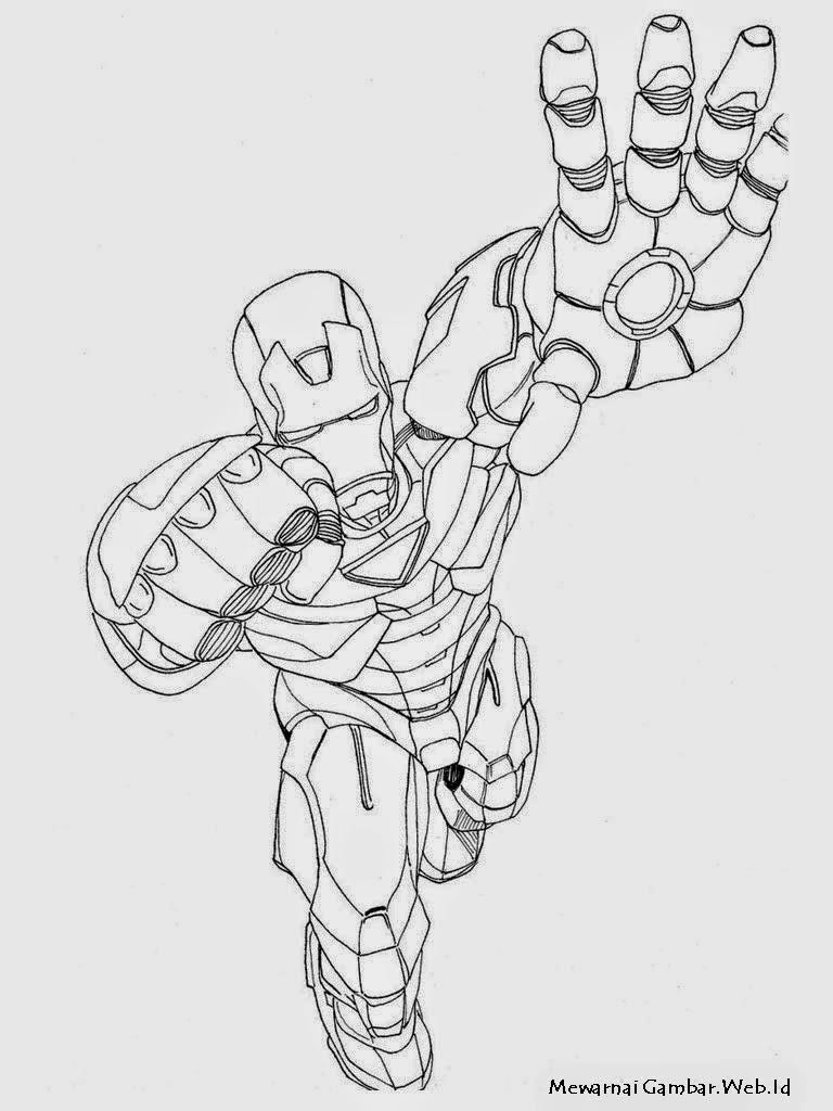 Gambar Mewarnai Iron Man