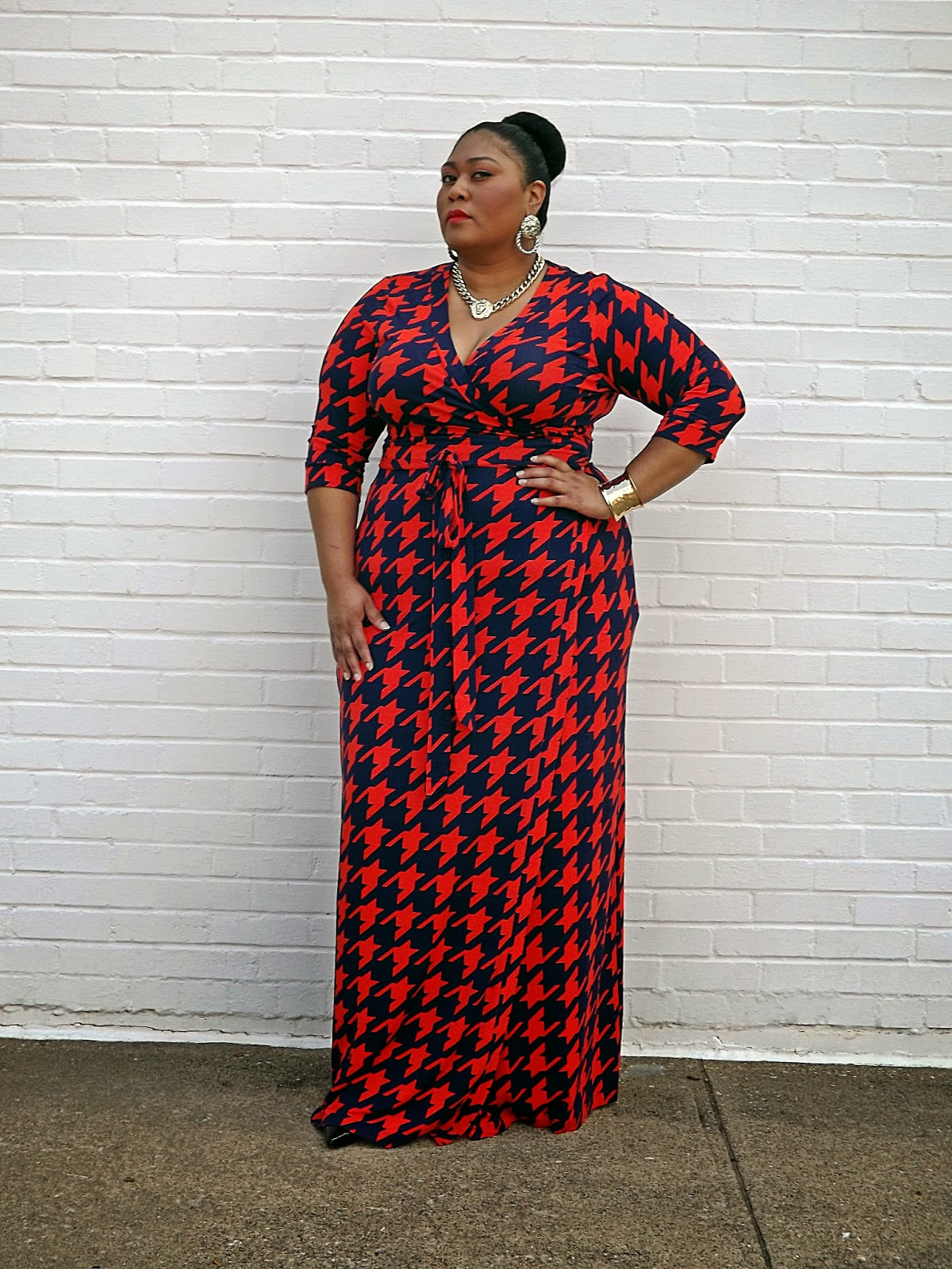 Houndstooth With A Twist The Global Destination For Plus Size