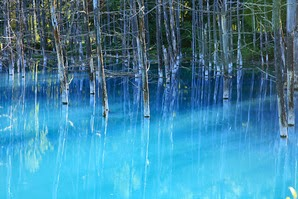 pond, biei town