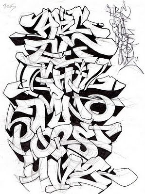 Professional_Graffiti_Alphabets_sketch_A-Z