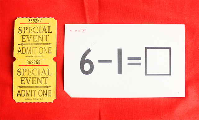 national stationery week - tickets and flash card from present and correct