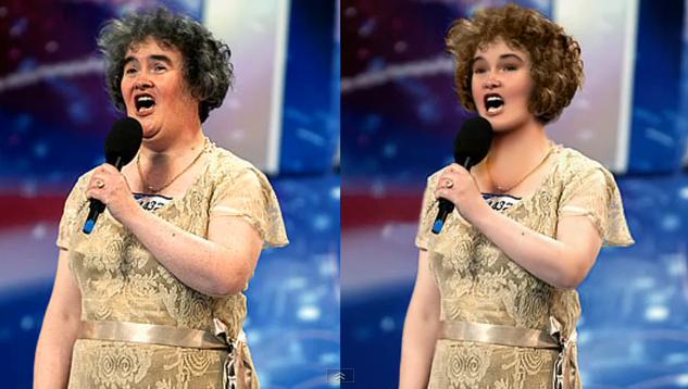 Susan Boyle Retouching