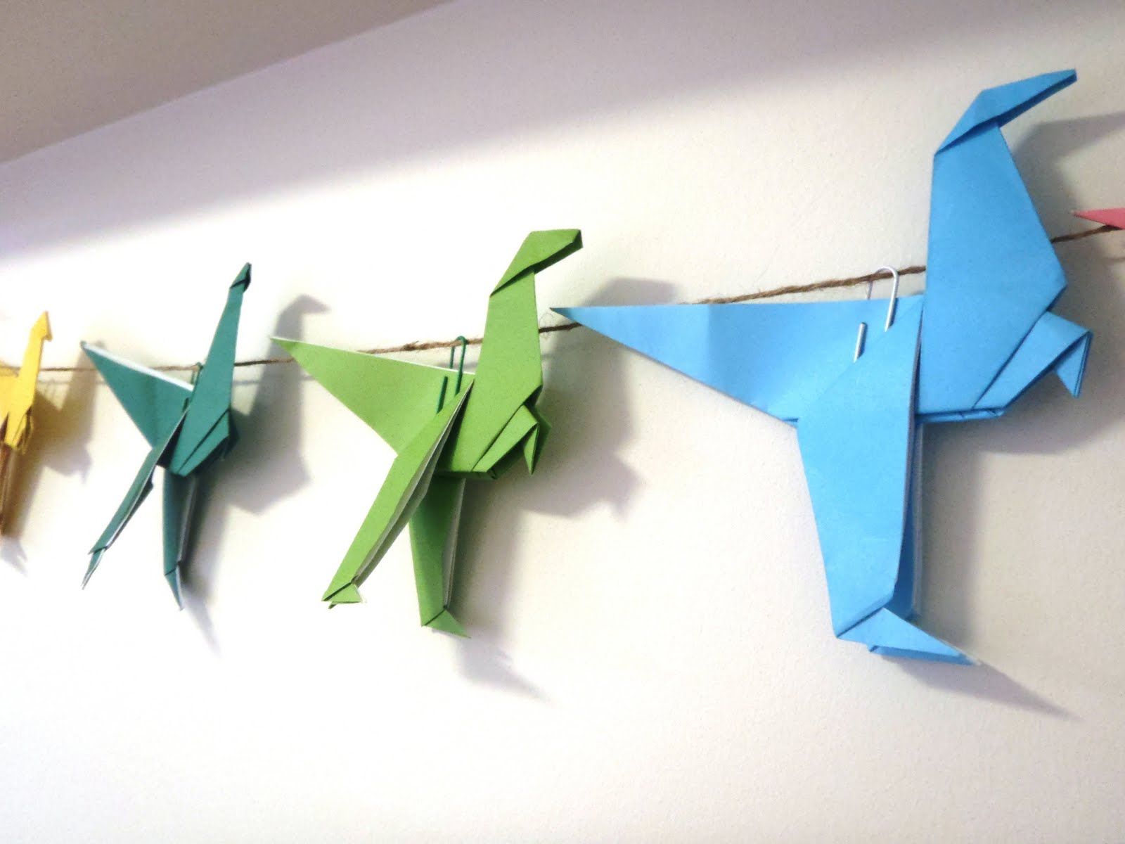A Little Learning For Two: Origami Dinosaurs - photo#7