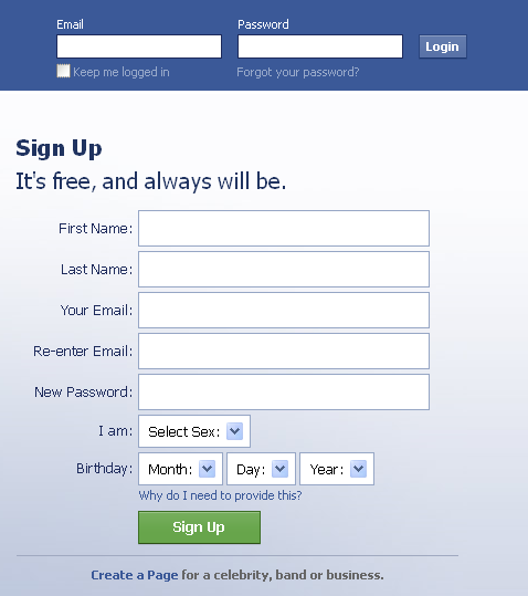 How to create a new account: How to create a new account Facebook
