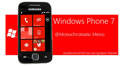 WP7-Monochromatic 3.8 mod pack (S-ROM) for Samsung galaxy y