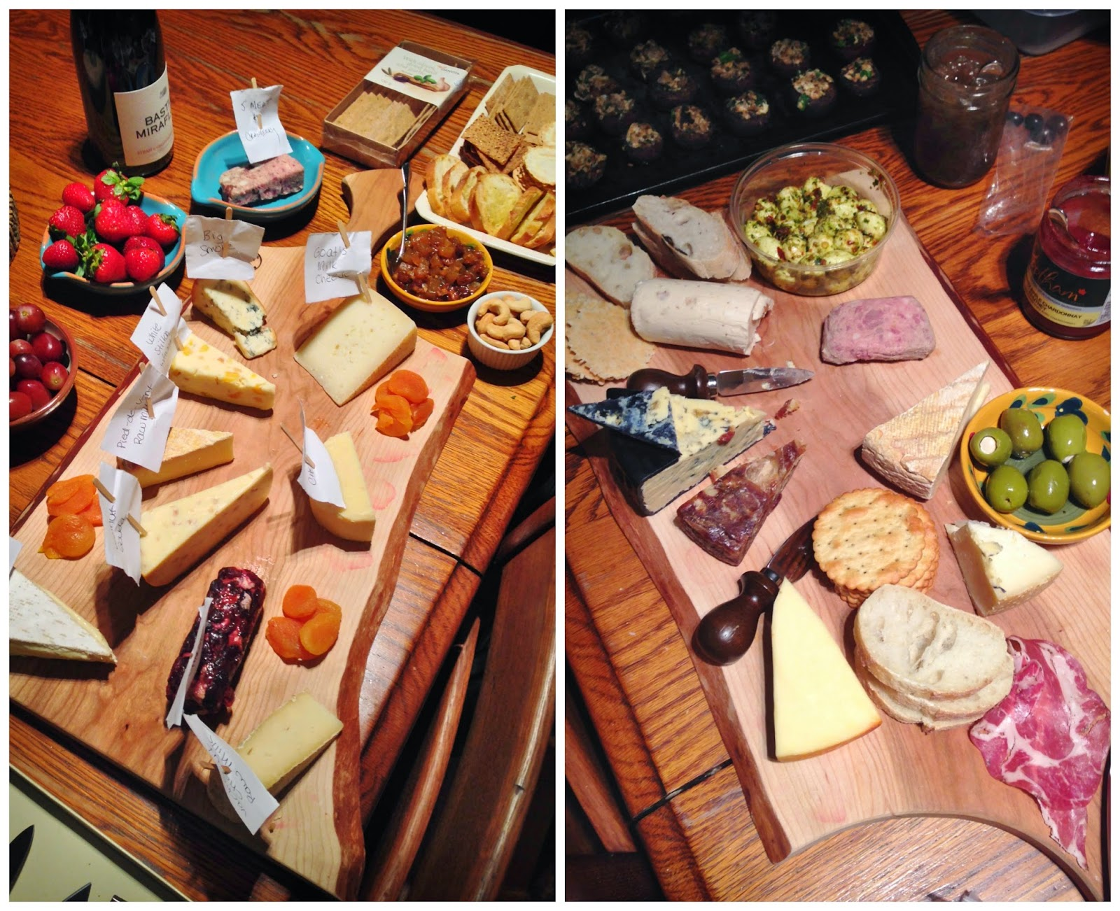 Cheese and charcuterie plates