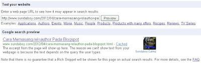 Cara Memasang rel=author Pada Blogspot