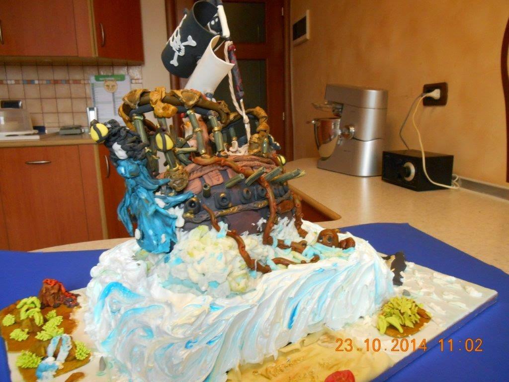 Le torte della mea compleanno di vittoria torta pirati - Colorazione pagina della torta di compleanno ...